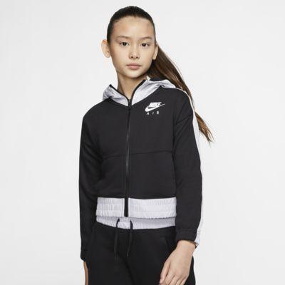 Μπλούζα με κουκούλα και φερμουάρ σε όλο το μήκος Nike Air για μεγάλα κορίτσια