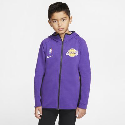 Lakers Showtime Nike NBA-hoodie met Dri-FIT voor kids
