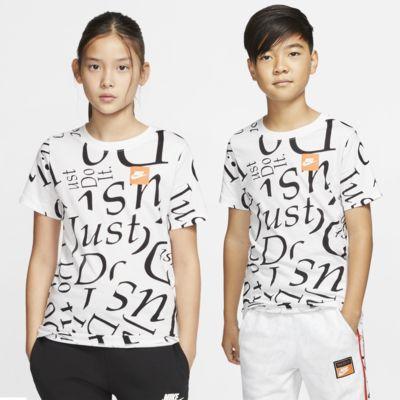 Nike Sportswear-T-shirt med print til store børn