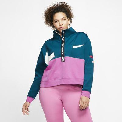 Damska koszulka z dzianiny Nike Pro Get Fit (duże rozmiary)