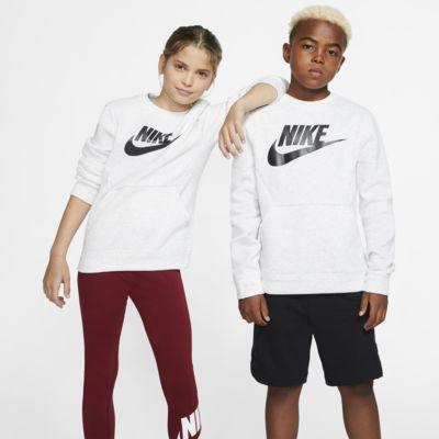 Suadera de cuello redondo para niños talla grande Nike Sportswear Club Fleece
