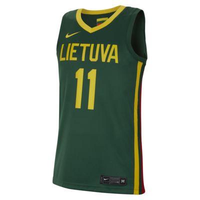 Litauen Nike (Road) Herren-Basketballtrikot