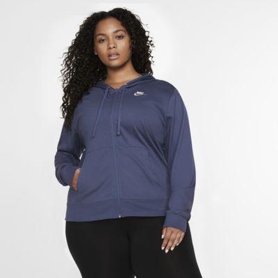 Nike Sportswear-hættetrøje med lynlås til kvinder (Plus Size)