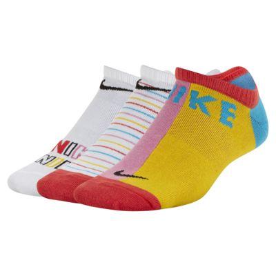 Nike Everyday Lightweight Big Kids' Graphic No-Show Socks (3 Pairs)