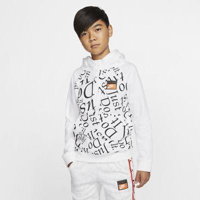 Huvtröja med halv dragkedja Nike Sportswear för ungdom (killar)