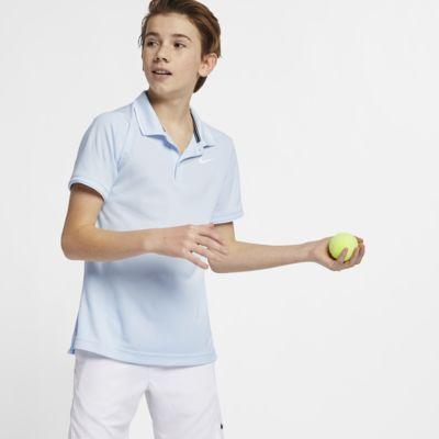 NikeCourt Dr-FIT galléros teniszpóló nagyobb gyerekeknek (fiúk)