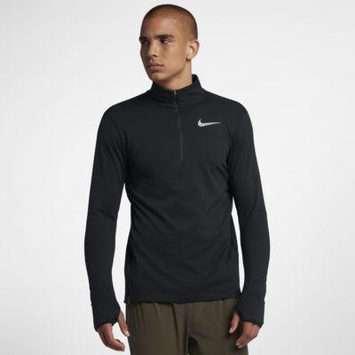 Męska koszulka do biegania z zamkiem 1/2 Nike Therma Sphere