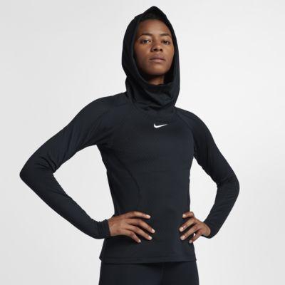 Nike Pro HyperWarm Hooded Kadın Antrenman Kapüşonlu Üst