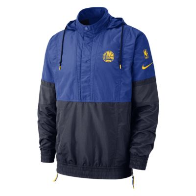 Chamarra con capucha de la NBA para hombre Golden State Warriors Nike Courtside