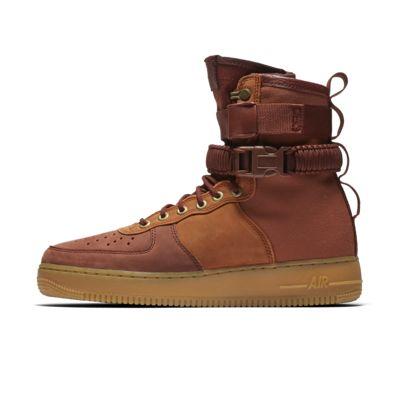 Купить Мужские кроссовки Nike SF Air Force 1 Premium, Темно-коричневый/Phantom/Светло-коричневая резина/Pueblo Brown, 22086777, 12325223