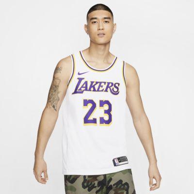 LeBron James Association Edition Swingman (Los Angeles Lakers) Men's Nike NBA Connected Jersey