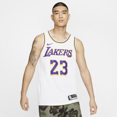 LeBron James Lakers Association Edition Nike NBA Swingman Jersey