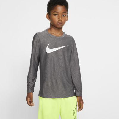 Chłopięca koszulka treningowa z długim rękawem Nike Dri-FIT