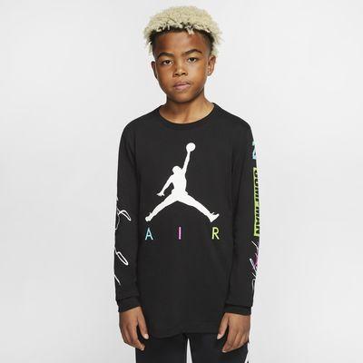 Tričko Jordan Jumpman s dlouhým rukávem pro větší děti (chlapce)