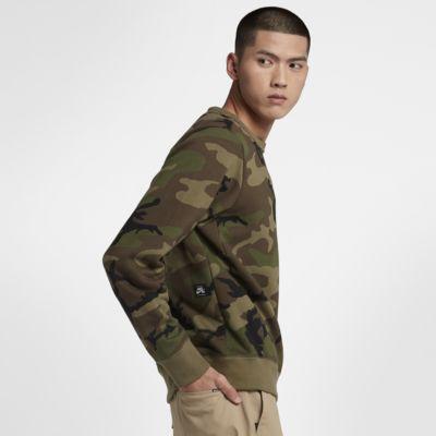 Prenda para la parte superior de skateboarding camuflada para hombre Nike SB Icon