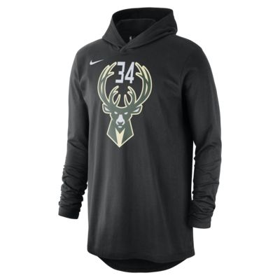 Giannis Antetokounmpo Milwaukee Bucks Nike Men's Long-Sleeve NBA Hooded T-Shirt