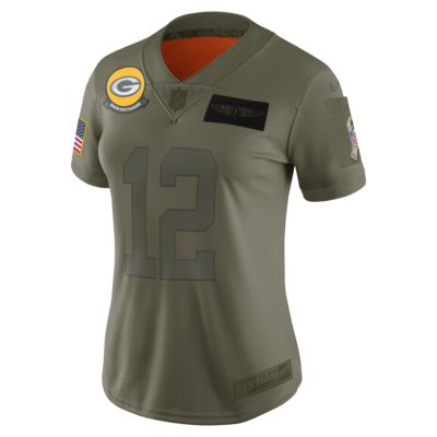 NFL Green Bay Packers Limited Salute To Service (Aaron Rodgers) Women's Football Jersey