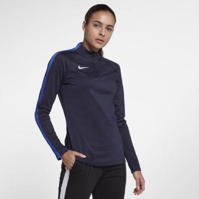Långärmad fotbollströja Nike Dri-FIT Academy Drill för kvinnor