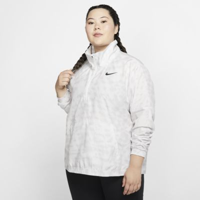 Nike Dri-FIT Women's 1/2-Zip Printed Running Jacket (Plus Size)