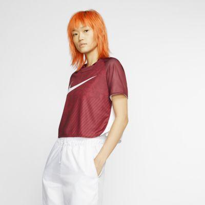 Женская укороченная футболка с коротким рукавом Nike Sportswear Dri-FIT Unité Totale