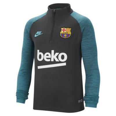 FC Barcelona Strike-fodboldtræningsoverdel til store børn