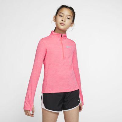 Haut de running à manches longues et demi-zip Nike pour Fille plus âgée