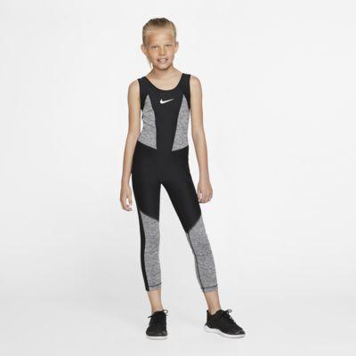 Nike Studio-træningsbodysuit til store børn (piger)