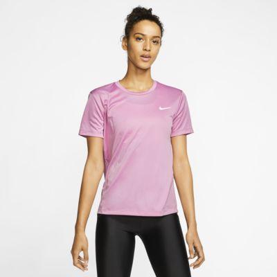 Nike Miler-løbeoverdel med korte ærmer til kvinder