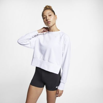 Nike Dri-FIT hosszú ujjú női edzőfelső jógához