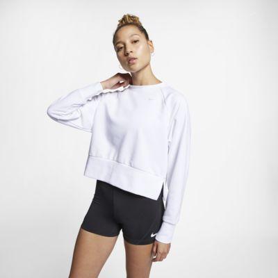 Dámské tréninkové tričko na jógu Nike Dri-FIT s dlouhým rukávem
