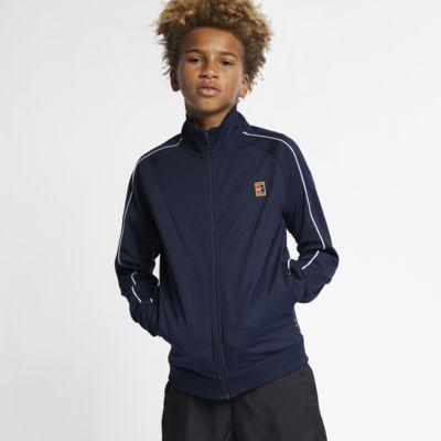 Tenisová rozcvičovací bunda NikeCourt pro větší děti (chlapce)