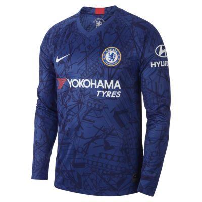 Chelsea FC 2019/20 Stadium Home Men's Long-Sleeve Soccer Jersey