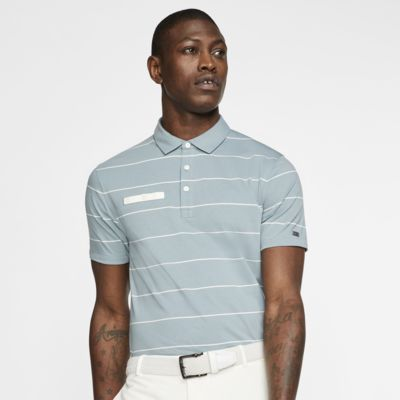 Nike Dri-FIT Player csíkos, galléros férfi golfpóló