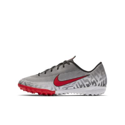 รองเท้าฟุตบอลเด็กเล็ก/โตสำหรับพื้นหญ้าเทียม Nike Jr. Mercurial Vapor XII Academy Neymar Jr