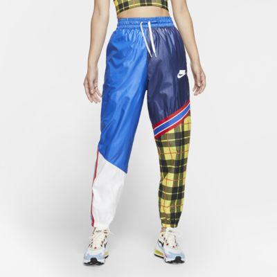 Nike Sportswear NSW Pantalons de teixit Woven amb estampat de quadres - Dona