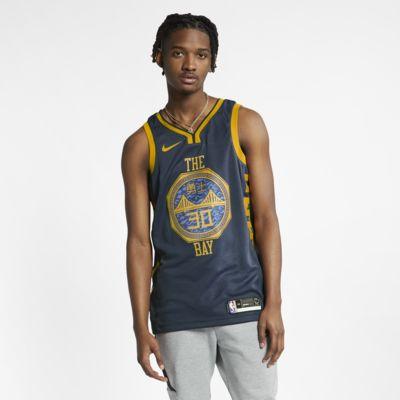 Camiseta conectada Nike NBA para hombre Stephen Curry City Edition Swingman (Golden State Warriors)