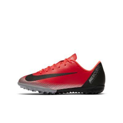 รองเท้าฟุตบอลเด็กเล็ก/โตสำหรับพื้นหญ้าเทียม Nike Jr. MercurialX Vapor XII Academy CR7