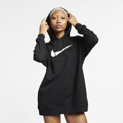 Huvtröja i frotté Nike Sportswear Swoosh för kvinnor