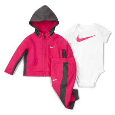 Nike Therma Baby (0-6M) Hoodie, Bodysuit and Pants Set