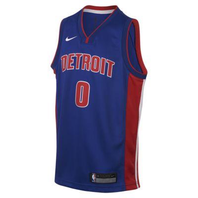 Andre Drummond Detroit Pistons Nike Icon Edition Swingman Big Kids' NBA Jersey
