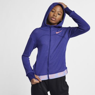 Nike Dri-FIT Core Studio Older Kids' (Girls') Full-Zip Training Hoodie