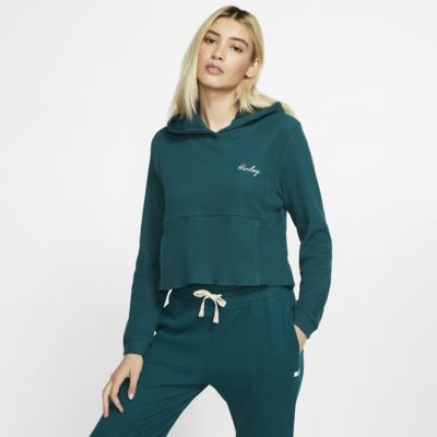 Kort Hurley Chill Rib-fleecesweatshirt til kvinder