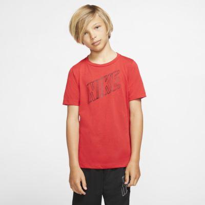 Αγορίστικη κοντομάνικη μπλούζα προπόνησης με σχέδιο Nike Breathe