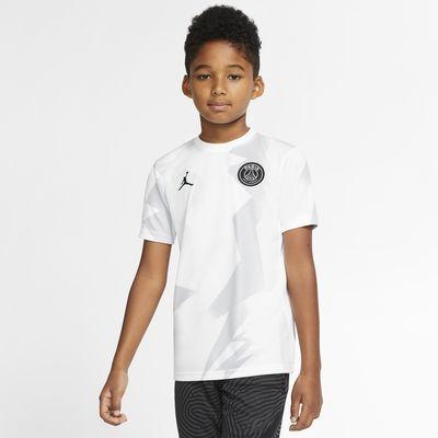 Jordan x Paris Saint Germain Kurzarm Fußballoberteil für Kinder