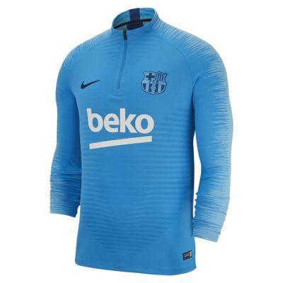 Top de fútbol de manga larga para hombre FC Barcelona VaporKnit Strike Drill
