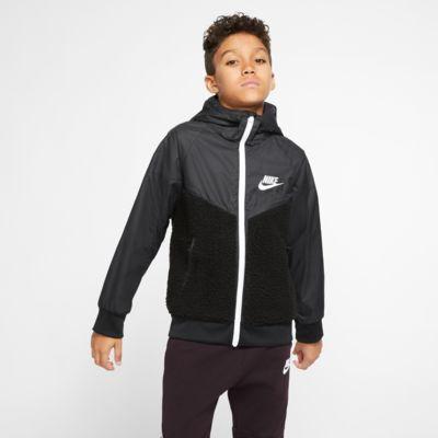 Nike Sportswear Windrunner Big Kids' (Boys') Sherpa Jacket