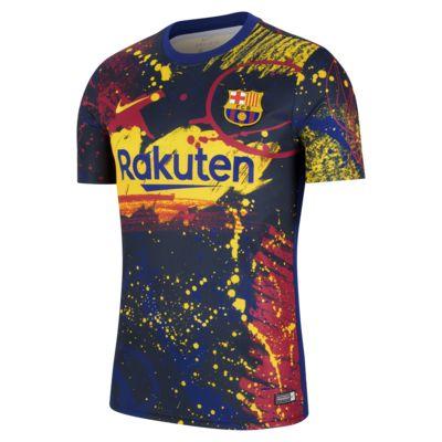 Camiseta de fútbol de manga corta para hombre FC Barcelona