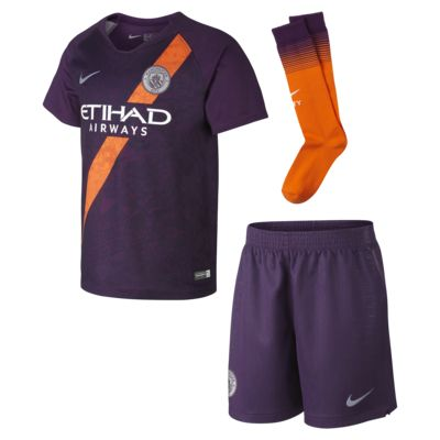 2018 Manchester City FC Stadium Away Younger Kids' Football Kit