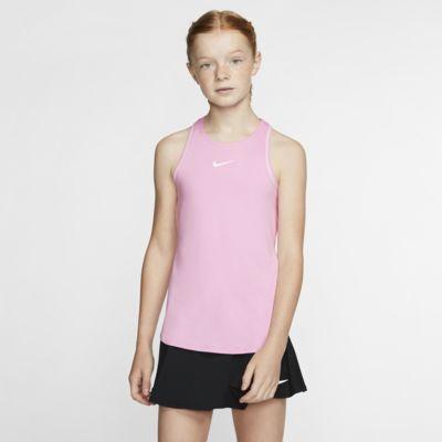 Camiseta de tirantes de tenis para niña talla grande NikeCourt Dri-FIT