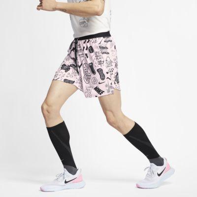 "Nike Flex Stride 男款 7"" 印花跑步短褲"